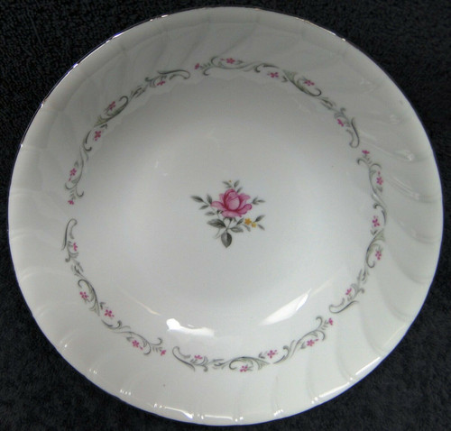 """Fine China of Japan Royal Swirl Round Vegetable Serving Bowl 9"""" Excellent"""