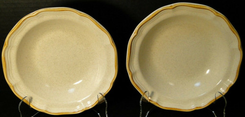 "Mikasa Garden Club Cereal Bowls 7 1/4"" EC 400 Salad Set of 2 Excellent"