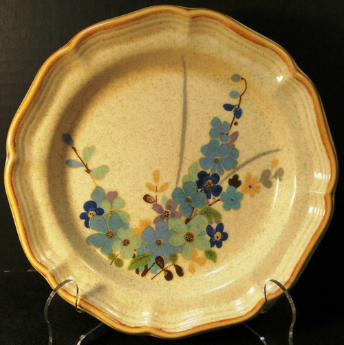 "Mikasa Blue Sonnet Salad Plate 8"" Garden Club EC407 Japan Excellent"