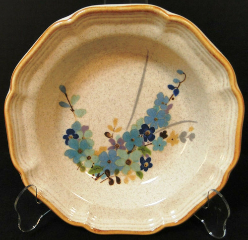 "Mikasa Blue Sonnet Soup Bowl 8 1/2"" Garden Club EC407 Japan 