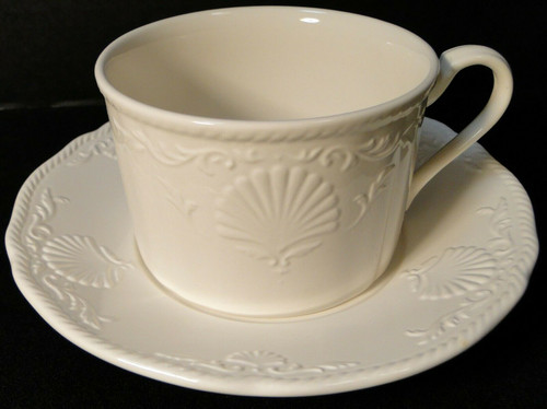 Mikasa South Hampton White Tea Cup Mug Saucer Set DY 902 | DR Vintage Dinnerware and Replacements