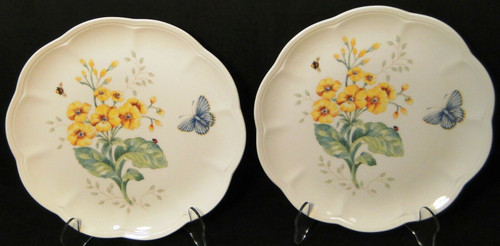 """lenox Butterfly Meadow Accent Luncheon Plates 9 1/8"""" Fritillary   DR Vintage Dinnerware and Replacements"""