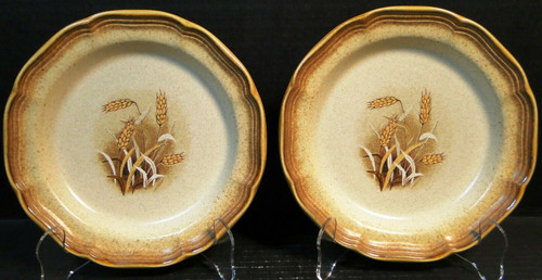 """Mikasa Whole Wheat Granola Salad Plates 8"""" E8001 Set of 2 