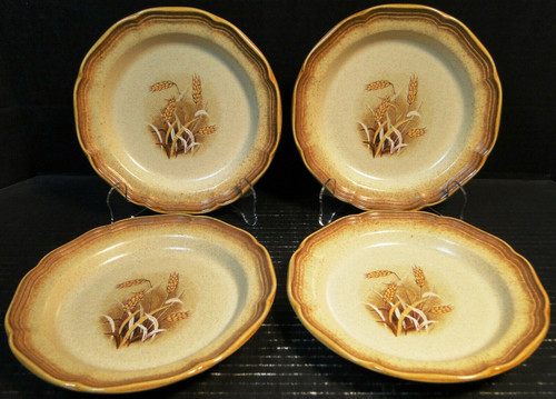 """Mikasa Whole Wheat Granola Salad Plates 8"""" E8001 Set of 4 