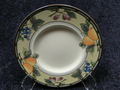 "Mikasa Garden Harvest Intaglio Saucer Bread Plate 6 1/2"" CAC29 Excellent"