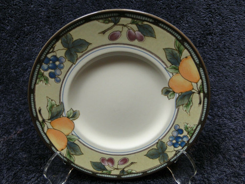 "Mikasa Garden Harvest Intaglio Saucer Bread Plate 6 1/2"" CAC29 