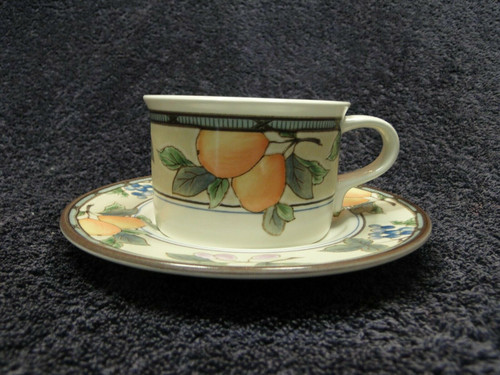 Mikasa Intaglio Garden Harvest Mug Cup Saucer CAC29 | DR Vintage Dinnerware and Replacements