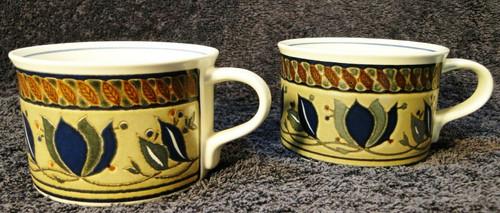 Mikasa Intaglio Arabella Cups Coffee Mugs CAC01 Set of 2 Excellent