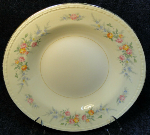 """Homer Laughlin Georgian Cashmere Soup Bowl 8 1/4"""" Rimmed 