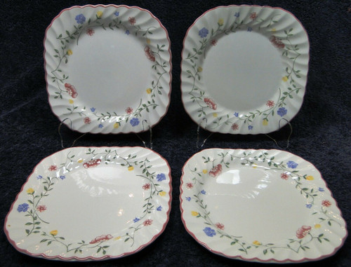 Johnson Brothers Summer Chintz Square Salad Plates 7 1/2 Set of 4 Excellent