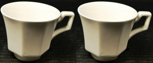 Johnson Brothers Heritage Ironstone White Tea Cups Set of 2 | DR Vintage Dinnerware and Replacements