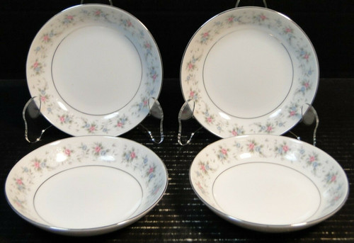 """Fine China of Japan Corsage Berry Bowls 5 5/8"""" 3142 Fruit Set of 4 Excellent"""