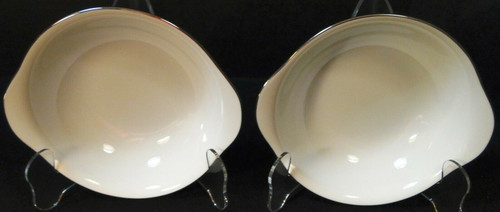 """Noritake Fremont Lugged Cereal Bowls 6 5/8"""" 6127 Set of 2 