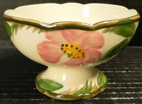 Franciscan Desert Rose Sherbet Cup Footed Ice Cream Bowl USA Stamp Excellent