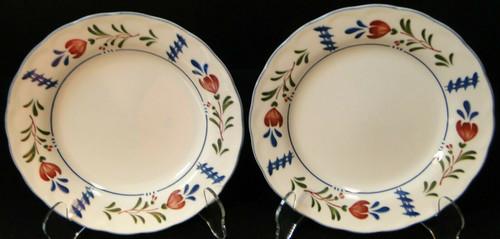 "Nikko Avondale Salad Plates 7 3/8"" Provisional Designs Japan Set of 2 Excellent"