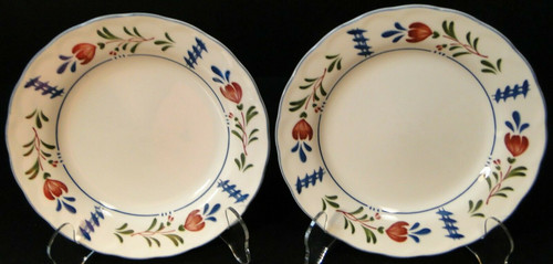 """Nikko Avondale Salad Plates 7 3/8"""" Provisional Designs Japan Set of 2 