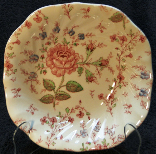 "Johnson Brothers Rose Chintz Soup Bowl 7"" Older Pink Mark 