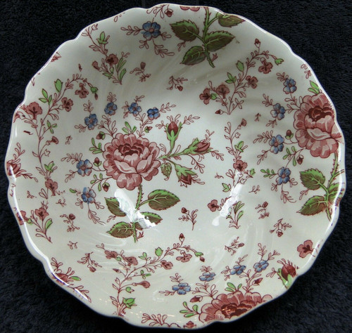 """Johnson Brothers Rose Chintz Vegetable Serving Bowl 8 3/8"""" Pink Mark 