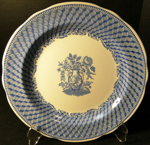 "Spode Blue Room Collection Dinner Plate 10 3/8""  Portland Vase Excellent"