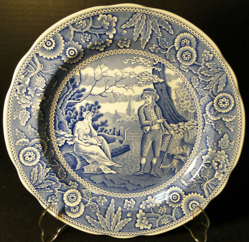 "Spode Blue Room Collection Dinner Plate 10 3/8"" Woodman Excellent"