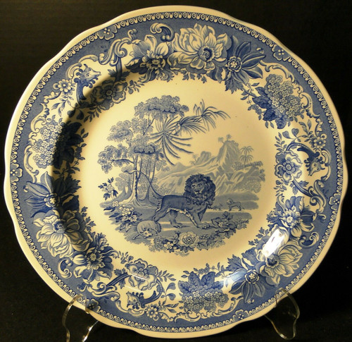 "Spode Blue Room Collection Dinner Plate 10 3/8"" Aesop's Fables Excellent"