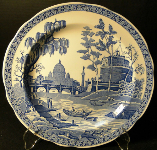 "Spode Blue Room Collection Dinner Plate 10 3/8"" Rome Excellent"