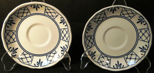 Johnson Brothers Provincial Saucers Scalloped Set of 2 | DR Vintage Dinnerware and Replacements