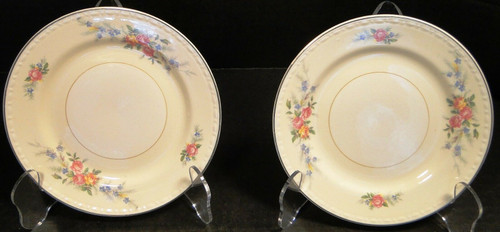 """Homer Laughlin Eggshell Georgian Cashmere Bread Plates 6 1/4"""" Set of 2 
