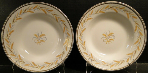 """Homer Laughlin Georgian Kingston Soup Bowls 8 1/4"""" G3459 Set of 2 
