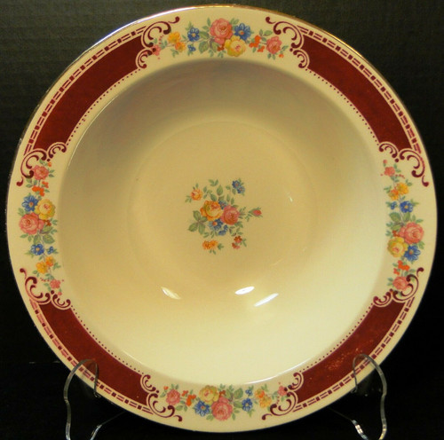 Homer Laughlin Brittany Majestic Round Vegetable Serving Bowl 9 1/2"