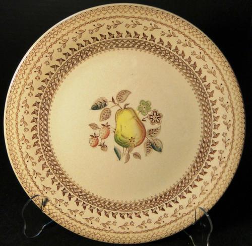 "Johnson Brothers Fruit Sampler Dinner Plate 10 1/8"" Old Granite Excellent"