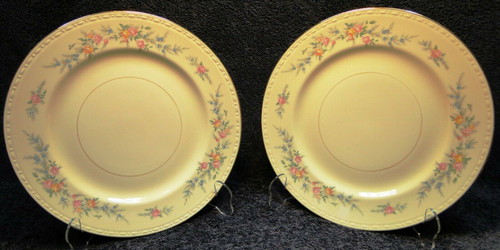 """Homer Laughlin Georgian Cashmere Dinner Plates 9 7/8"""" Set of 2 
