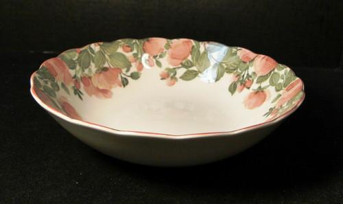 "Nikko Precious Round Vegetable Serving bowl 9 3/8"" Pink Roses Excellent"