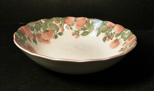 "Nikko Precious Round Vegetable Serving bowl 9 3/8"" Pink Roses 