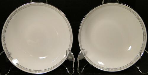 Noritake Silver Key Berry Bowls 5941 Fruit Dessert Set of 2 Excellent