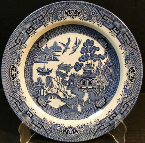 Churchill Blue Willow Dinner Plate 10 1/4 England | DR Vintage Dinnerware and Replacements