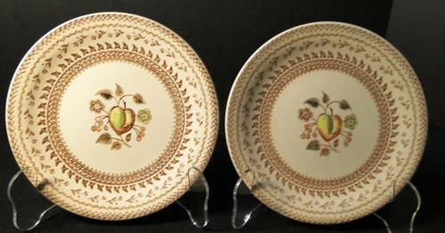 """Johnson Brothers Fruit Sampler Bread Plates 6 1/2"""" Old Granite Set 2 Excellent"""