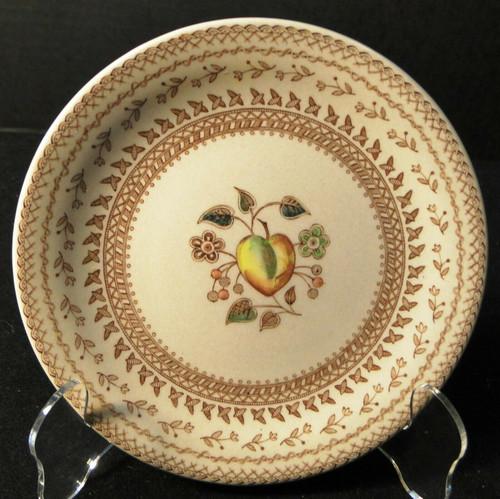 "Johnson Brothers Fruit Sampler Bread Plate 6 1/2"" Old Granite Excellent"