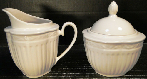 Mikasa Italian Countryside Creamer Sugar with Lid Set DD900 | DR Vintage Dinnerware Replacements