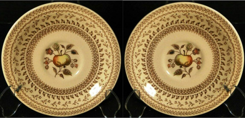 Johnson Brothers Fruit Sampler Saucers Old Granite 2 Excellent