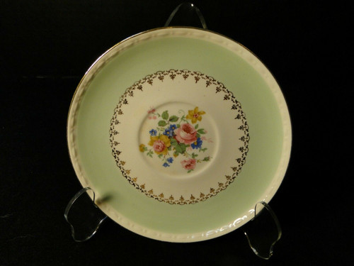 Homer Laughlin Marilyn Green Saucer G3421 | DR Vintage Dinnerware and Replacements
