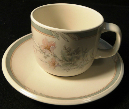 Noritake Keltcraft Deerfield Tea Cup Saucer Set 9159 Misty Isle Excellent