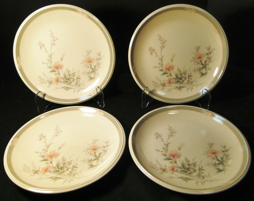 "Noritake Keltcraft Deerfield Salad Plates 8 1/8"" 9159 Set of 4 Excellent"