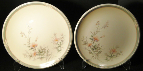 "Noritake Keltcraft Deerfield Dinner Plates 10 1/2"" 9159 Set of 2 Excellent"