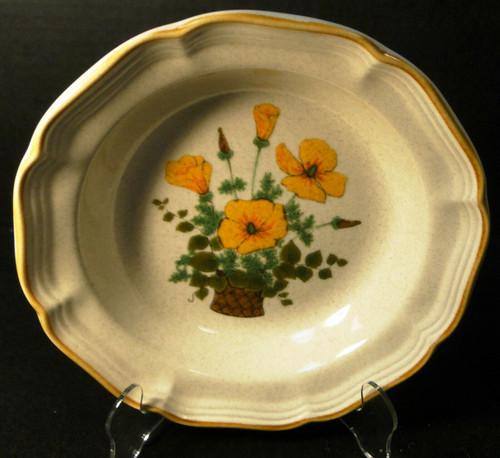 "Mikasa Petunias Soup Bowl 8 1/2"" EC 401 Garden Club Excellent"