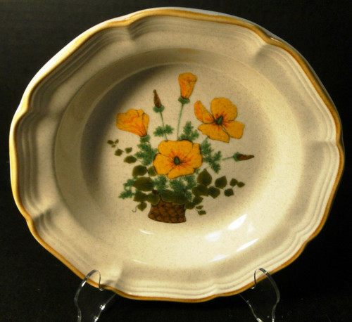 "Mikasa Petunias Soup Bowl 8 1/2"" EC 401 Garden Club 