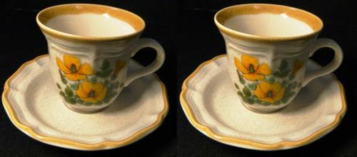 Mikasa Petunias Tea cup Saucer Sets EC 401 Garden Club 2 | DR Vintage Dinnerware and Replacements