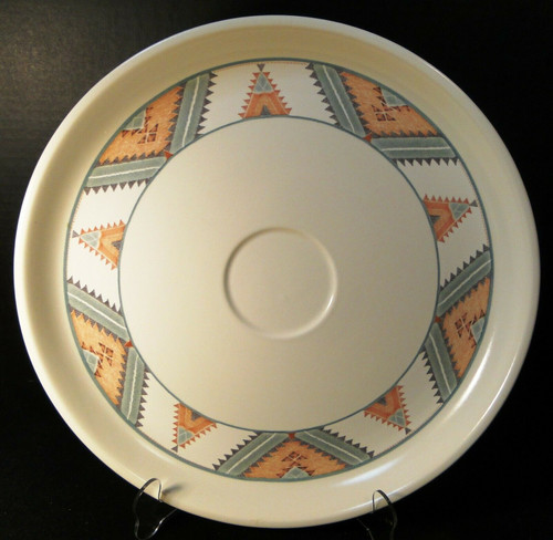"""Mikasa Santa FE Party Snack Chip Dip Plate 14 1/2"""" CAC24 Intaglio SW   DR Vintage Dinnerware and Replacements"""