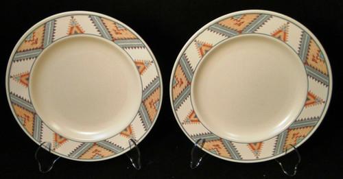 "Mikasa Santa FE Salad Plates 8 3/8"" CAC24 Intaglio Southwest Set of 2 Excellent"