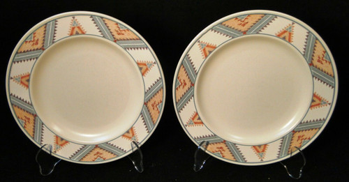 "Mikasa Santa FE Salad Plates 8 3/8"" CAC24 Intaglio Southwest Set of 2 